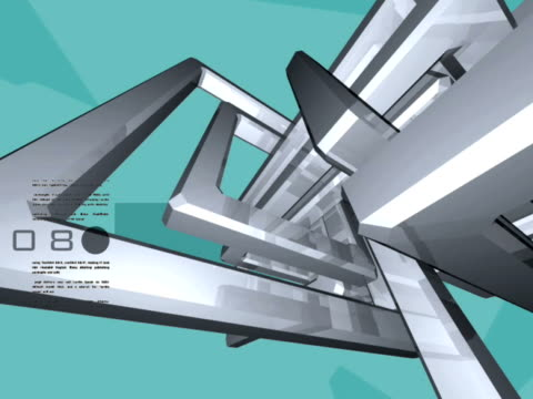 close-up of moving pipelinesspinning geometric shape as looping background - numero 8 video stock e b–roll
