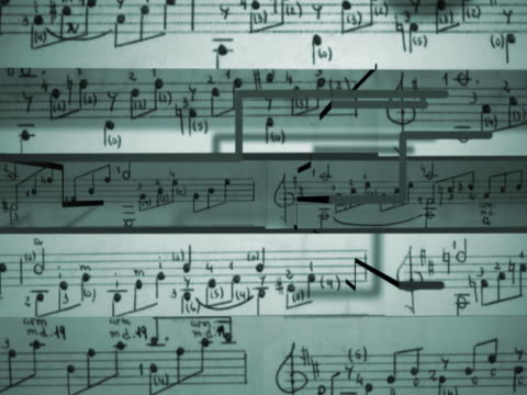 close-up of musical notes on a sheet of paper - musical note stock videos & royalty-free footage