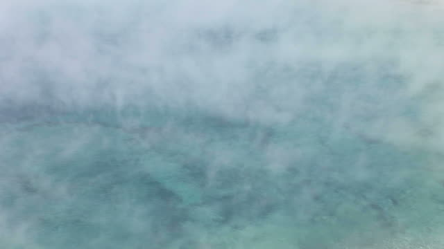 vídeos y material grabado en eventos de stock de close-up of natural spring in yellowstone national park wyoming united states - usa