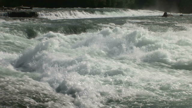 close-up of niagara river in new york united states - river niagara stock videos & royalty-free footage