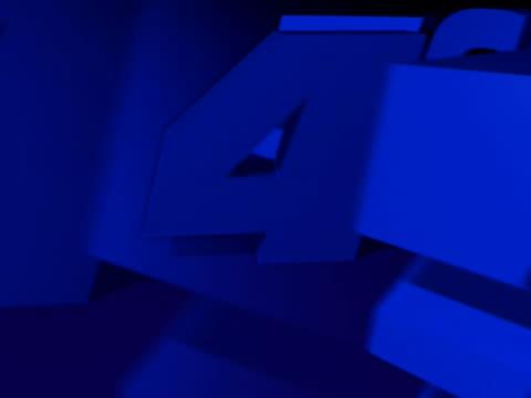 vídeos de stock, filmes e b-roll de close-up of numbers rotating - número 6