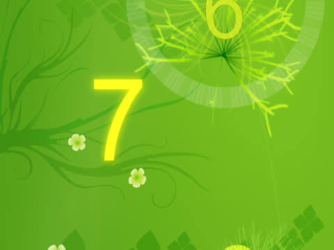 Close-up of numbers scrolling on a green background