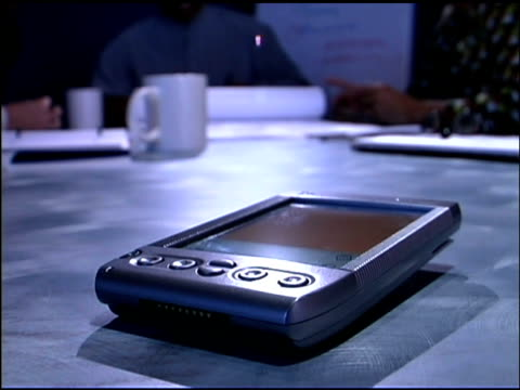 close-up of pda in business meeting - electronic organiser stock videos & royalty-free footage