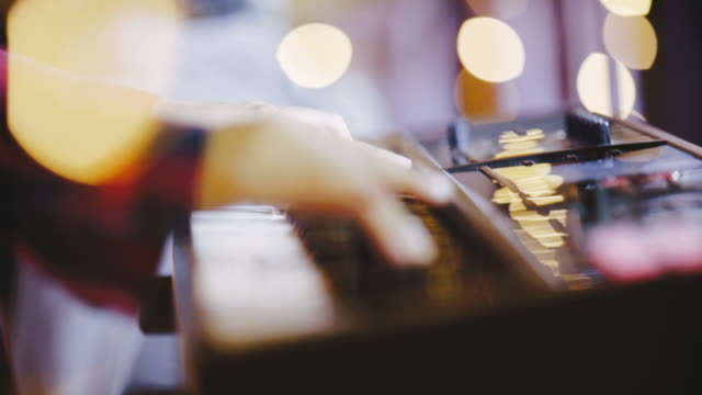 close-up of pianist playing the piano with shallow depth of field - solo performance stock videos and b-roll footage