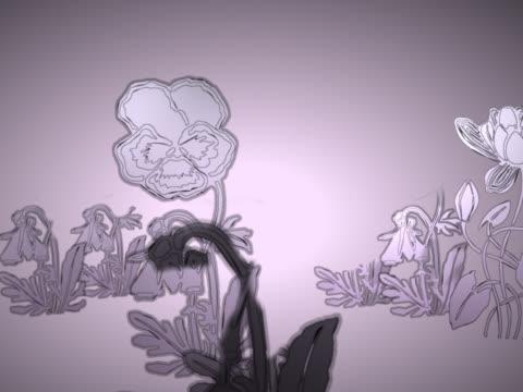 vídeos de stock e filmes b-roll de close-up of plants growing - natureza morta