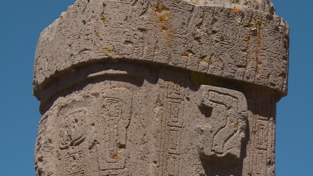 close-up of ponce monolithic, la paz, bolivia - mythologie stock-videos und b-roll-filmmaterial