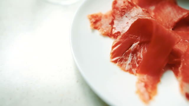 Closeup Of Raw Salmon In Plate