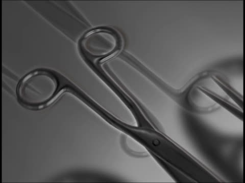 close-up of scissors in motion - scissors stock videos & royalty-free footage