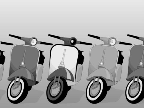 close-up of scooters in a row - scooter stock videos & royalty-free footage