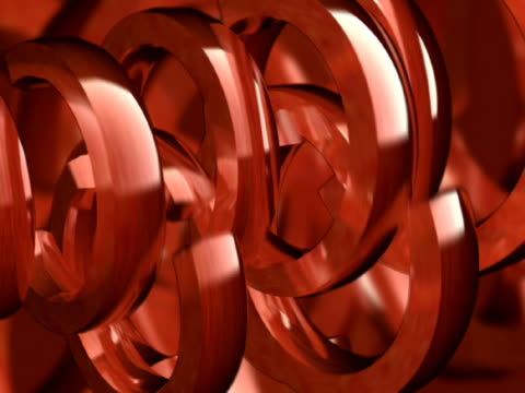 close-up of semi-circles rotating - manipolazione di colore video stock e b–roll