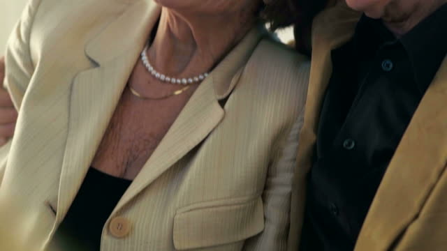 close-up of senior couple hugging - the ageing process stock videos & royalty-free footage