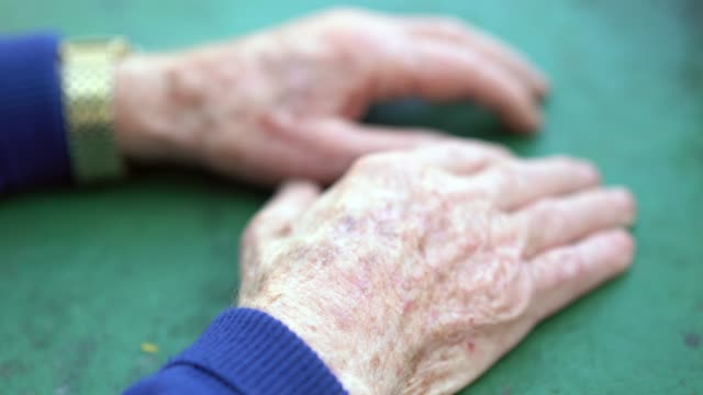 close-up of senior hands; he is 91 years old - human limb stock videos & royalty-free footage