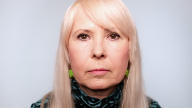 close-up of senior woman looking serious - headshot stock videos & royalty-free footage