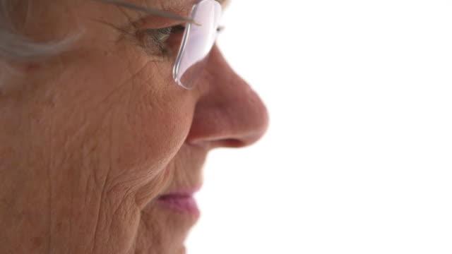 Closeup of senior woman