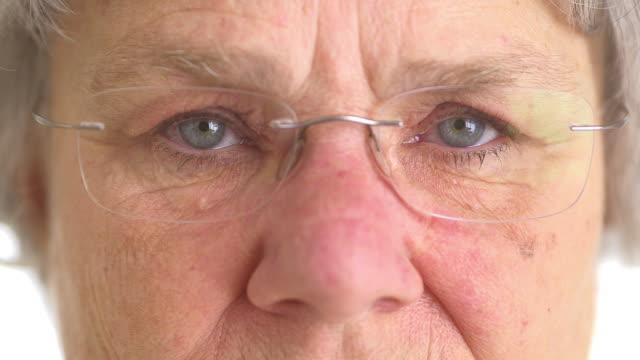 Closeup of senior woman's eyes