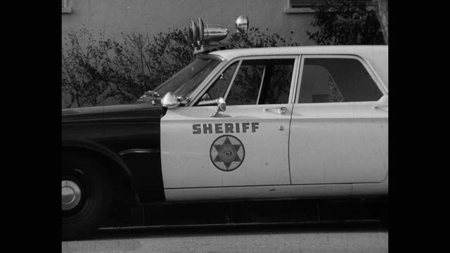 close-up of sheriff's car parked on street, saugus, santa clarita, california, usa - santa clarita stock videos & royalty-free footage