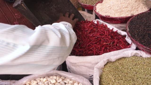 Close-Up of Spice Market Goods, New Delhi