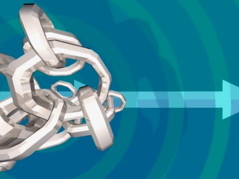 close-up of spinning interlocked rings - interlocked stock videos & royalty-free footage