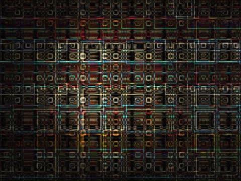 vidéos et rushes de close-up of square shapes on a screen - fondu d'ouverture