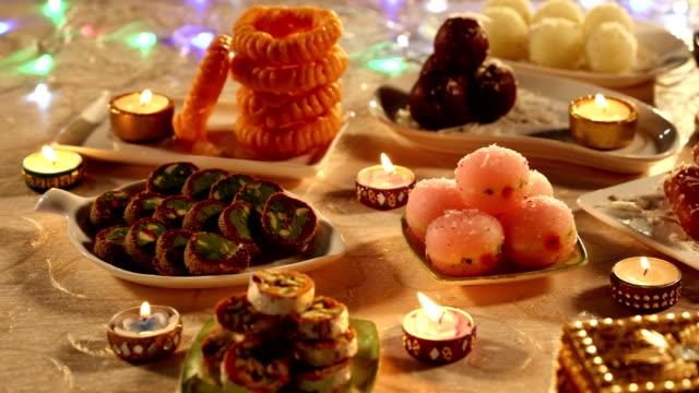 Close-up of sweets, Delhi, India