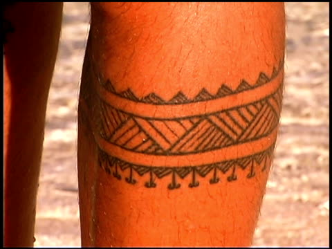 close-up of tattoo - pacific islands stock videos & royalty-free footage