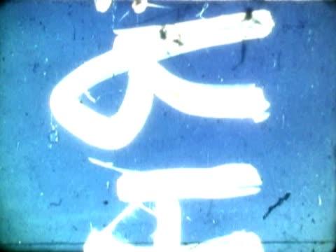 vídeos y material grabado en eventos de stock de close-up of text scrolling on a film leader - escritura occidental