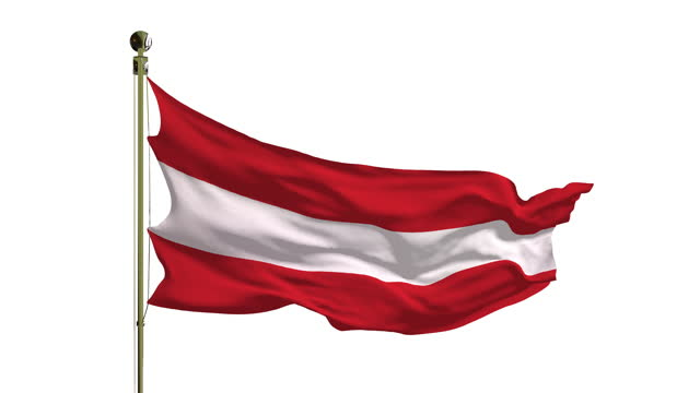 close-up of the austrian flag in 4k - traditionally austrian stock videos & royalty-free footage