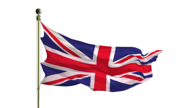 close-up of the british flag in 4k - british royalty stock videos & royalty-free footage