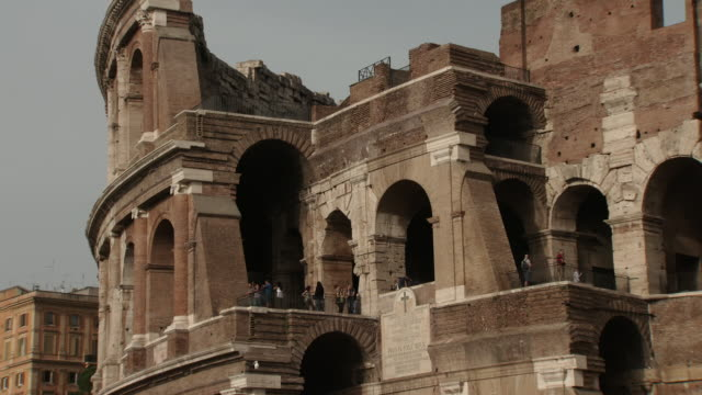 close-up of the colosseum in rome - old ruin stock videos & royalty-free footage