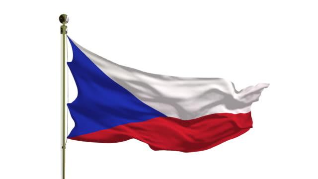 nahaufnahme der tschechischen flagge in 4k - tschechische kultur stock-videos und b-roll-filmmaterial