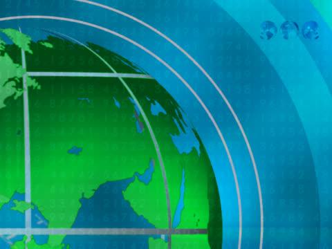 vidéos et rushes de close-up of the earth rotating - hémisphère nord
