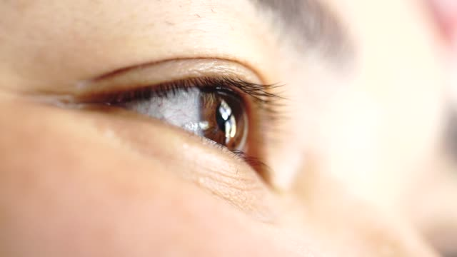 Close-up of the eyes of a cute young girl: woman, look, looking, face, outdoor