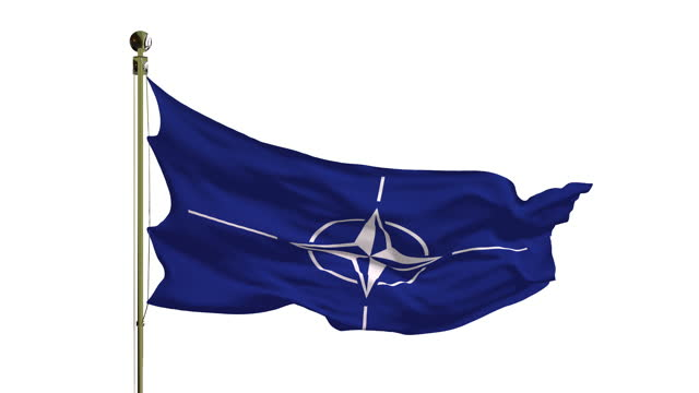 close-up of the nato flag in 4k - politics abstract stock videos & royalty-free footage