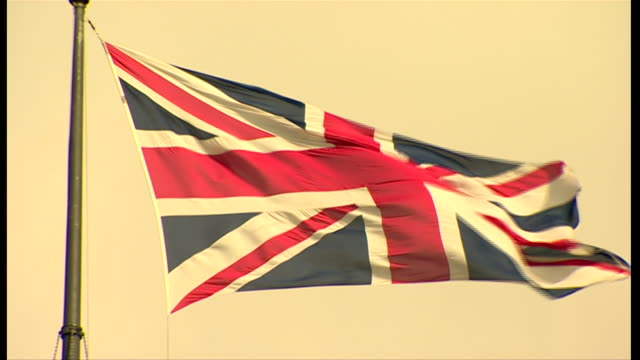 close-up of the union jack - fade in video transition stock videos & royalty-free footage