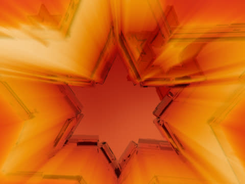 close-up of three stars spinning - small group of objects stock videos & royalty-free footage