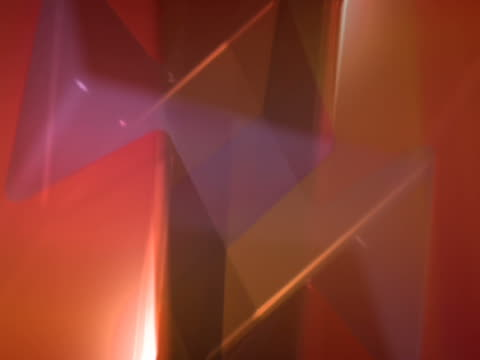 close-up of three-dimensional objects rotating - three objects点の映像素材/bロール