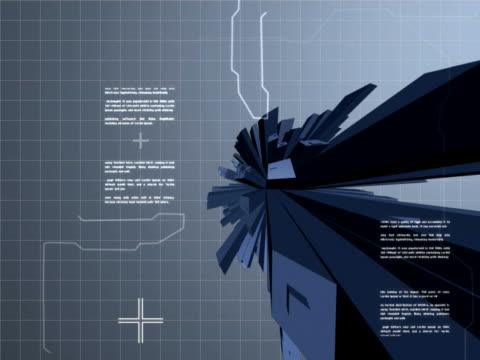 vídeos y material grabado en eventos de stock de close-up of three-dimensional objects spinning on a line graph chart - diagrama de línea
