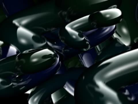 vídeos y material grabado en eventos de stock de close-up of three-dimensional objects spinning - doblado actividad física