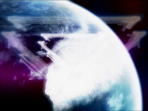 vídeos y material grabado en eventos de stock de close-up of triangles on a spinning globe - menos de diez segundos
