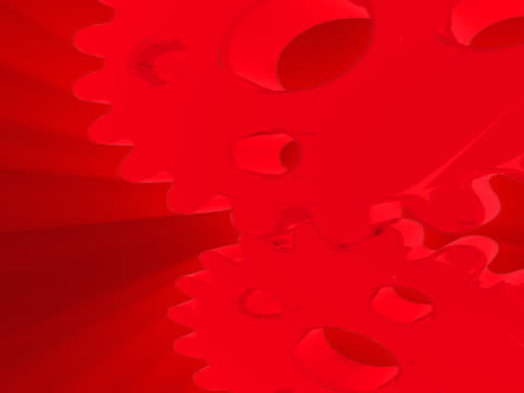 close-up of two interlocked gears spinning - interlocked stock videos & royalty-free footage