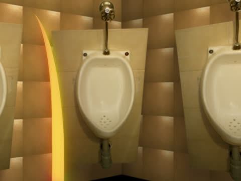 close-up of urinals in a restroom - 小便器点の映像素材/bロール