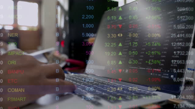 close-up of users' hands analyzing and investing in the stock market for online trading. - accountancy stock videos & royalty-free footage