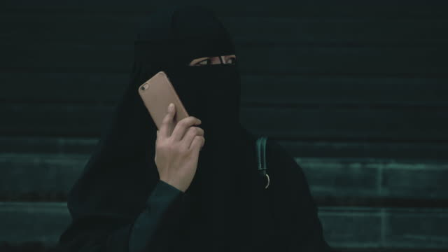 close-up of young islamic woman - burka stock videos & royalty-free footage