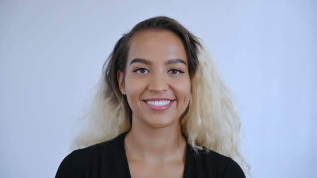 close-up of young pacific islander woman with two-toned hair - 30 seconds or greater stock videos & royalty-free footage
