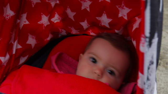 close-up on baby in her carriage - effortless stock videos & royalty-free footage