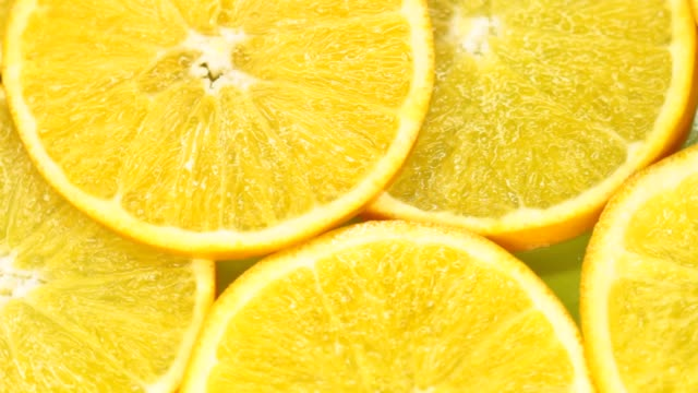 close-up orange slices - citrus fruit stock videos & royalty-free footage