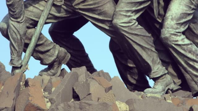 Close-up Pan Upward: Soldiers Legs of Iwo Jima (Shot on RED)