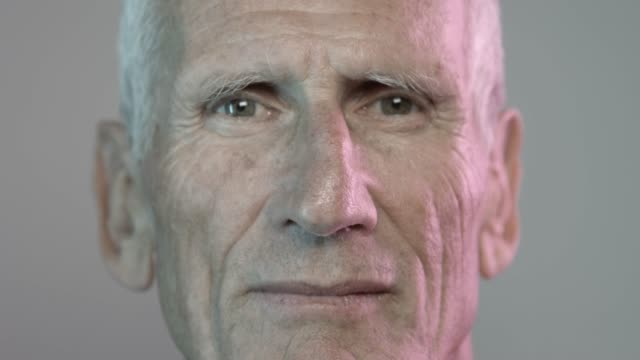 close-up portrait of smiling retired senior man - portrait stock videos & royalty-free footage