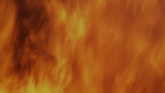 Closeup raging fire and flames.