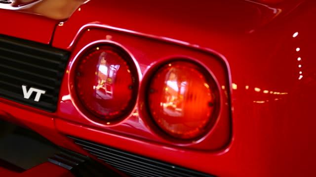 closeup rearlight car.